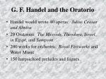 g f handel and the oratorio74