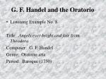 g f handel and the oratorio75