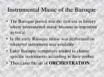 instrumental music of the baroque77