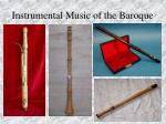instrumental music of the baroque82