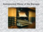 instrumental music of the baroque87