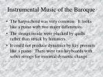instrumental music of the baroque88
