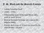 j s bach and the sacred cantata54