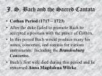 j s bach and the sacred cantata57