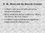 j s bach and the sacred cantata61