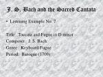 j s bach and the sacred cantata64
