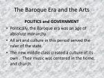 the baroque era and the arts3