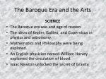 the baroque era and the arts4