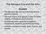 the baroque era and the arts5