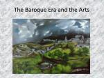 the baroque era and the arts8
