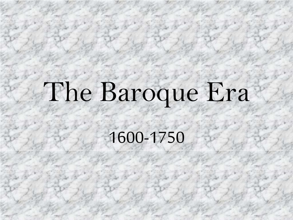 the baroque era l.