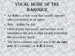 vocal music of the baroque33