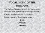 vocal music of the baroque49