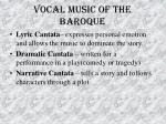 vocal music of the baroque50