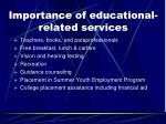 importance of educational related services