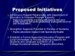 proposed initiatives