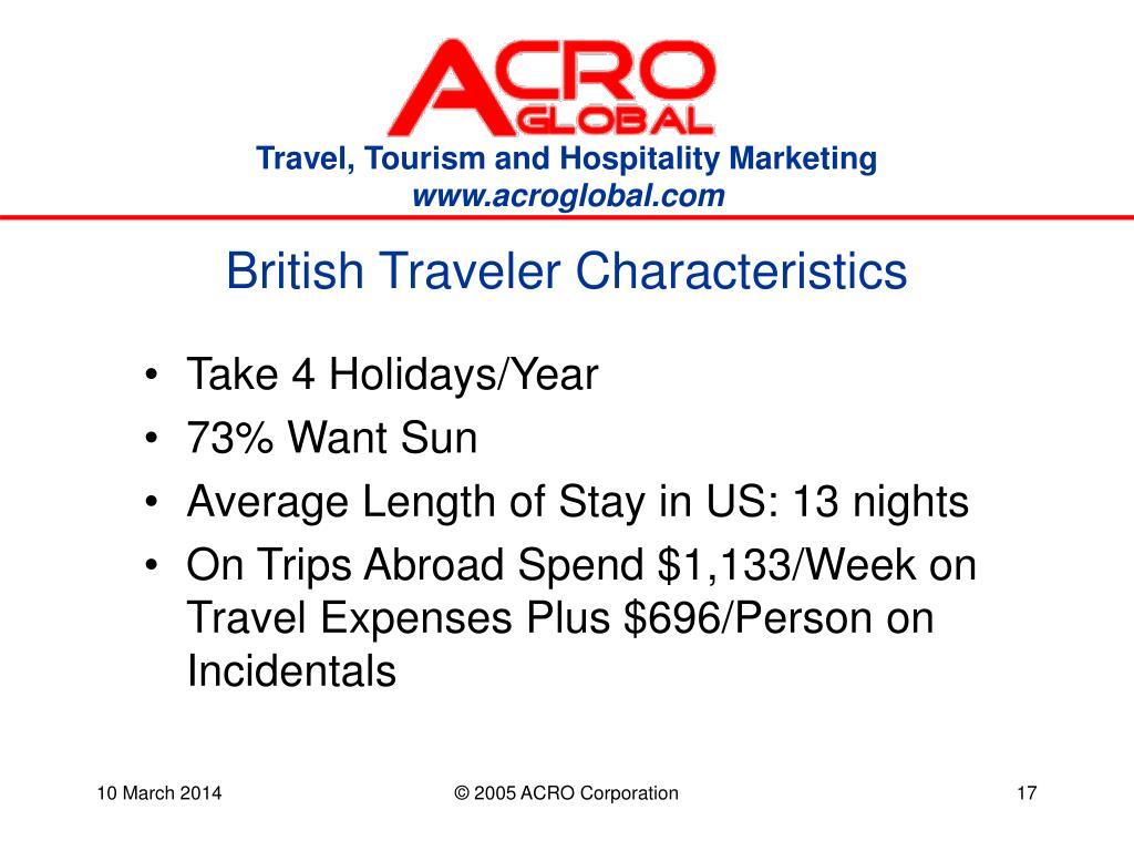 British Traveler Characteristics
