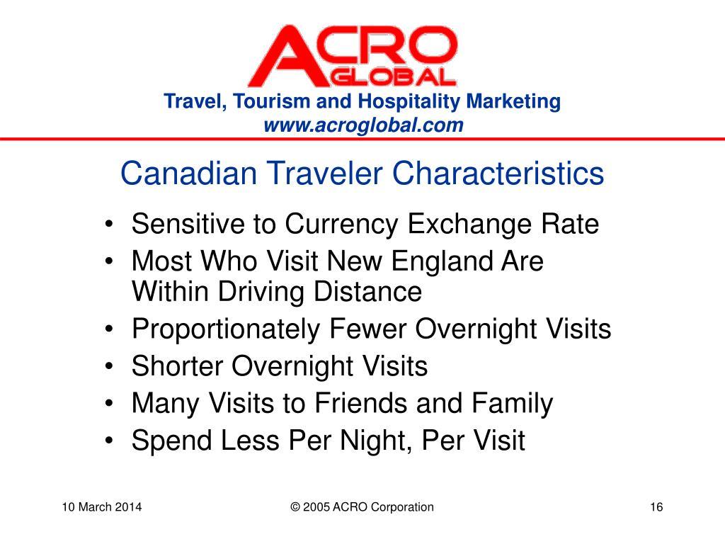 Canadian Traveler Characteristics