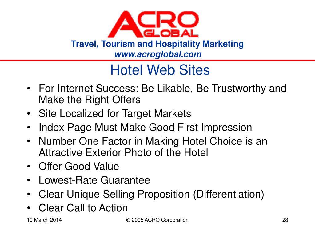 Hotel Web Sites