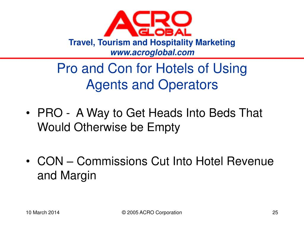 Pro and Con for Hotels of Using