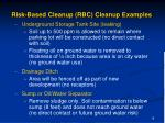 risk based cleanup rbc cleanup examples