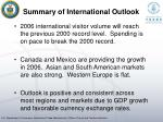 summary of international outlook