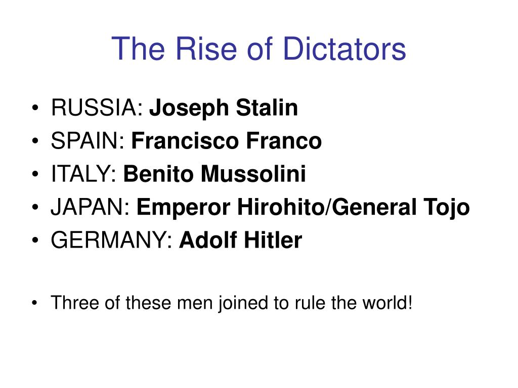 the rise of dictators l.
