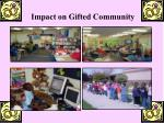 impact on gifted community