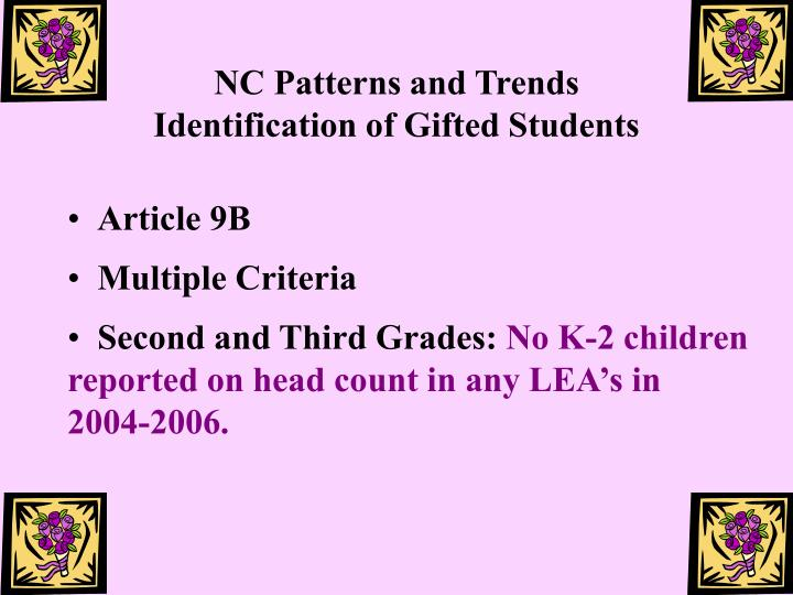 NC Patterns and Trends