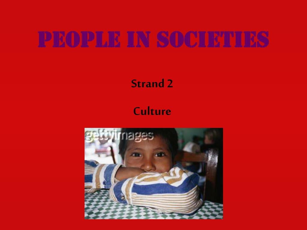 People in societies