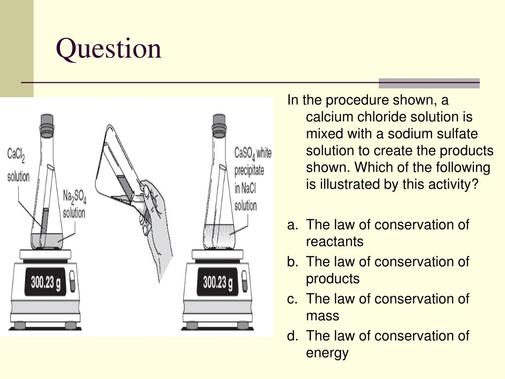 PPT - Daily TAKS Connection: Conservation of Mass ...