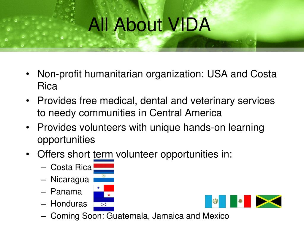 All About VIDA