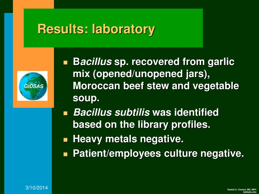 Results: laboratory