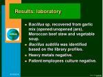 results laboratory