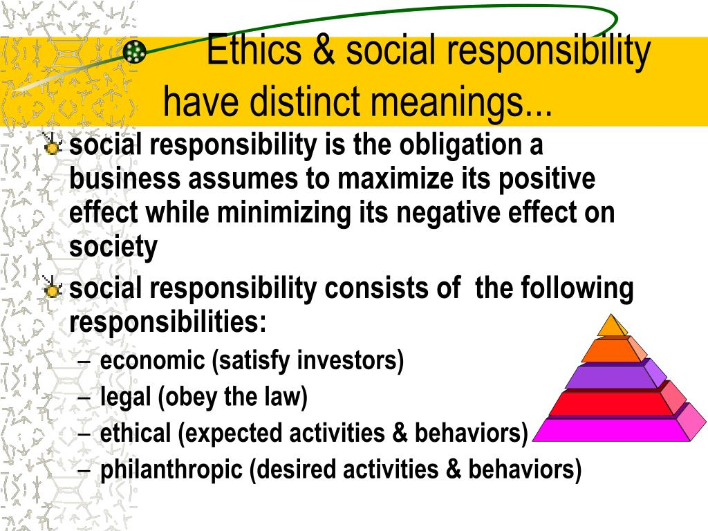 the ethical and social responsibility of a business