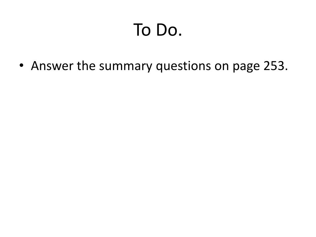 To Do.