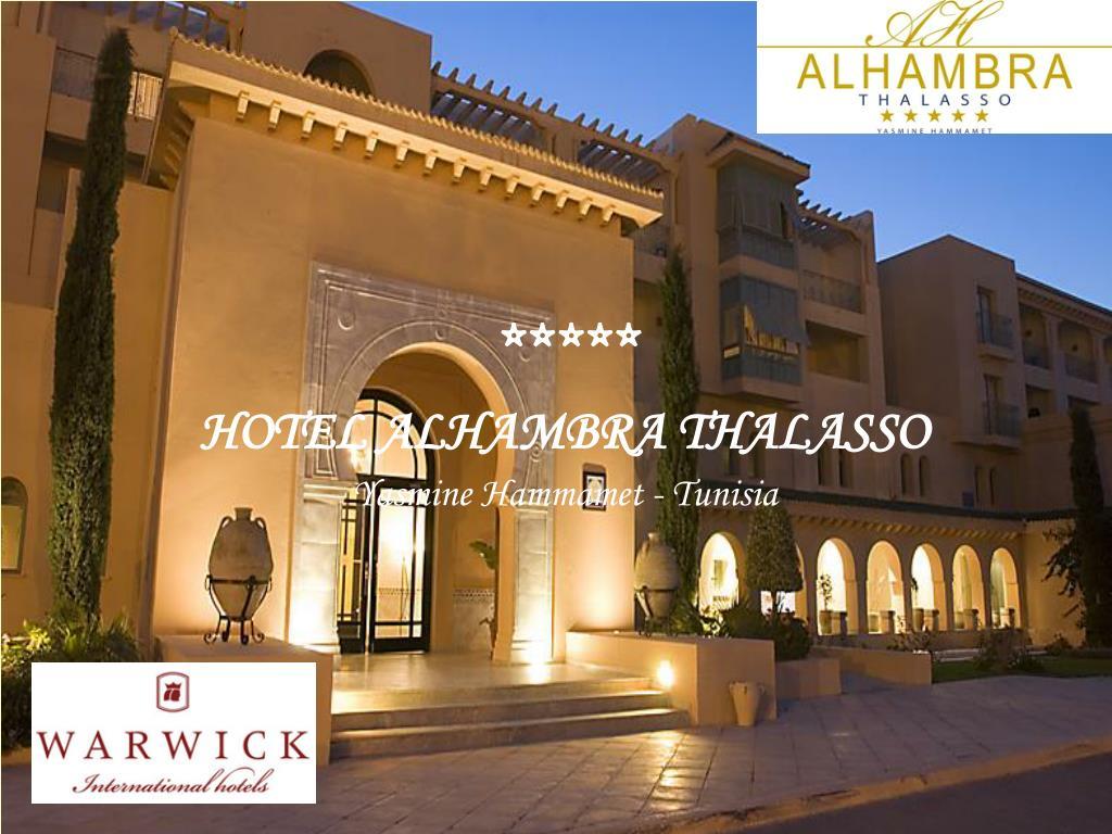 hotel alhambra thalasso yasmine hammamet tunisia l.