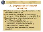1 3 degradation of natural resources