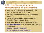 1 5 land tenure structures disadvantageous to modernization