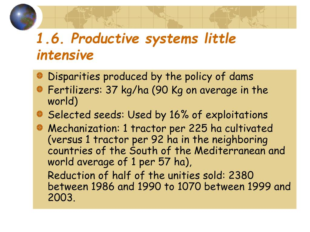 1.6. Productive systems little intensive