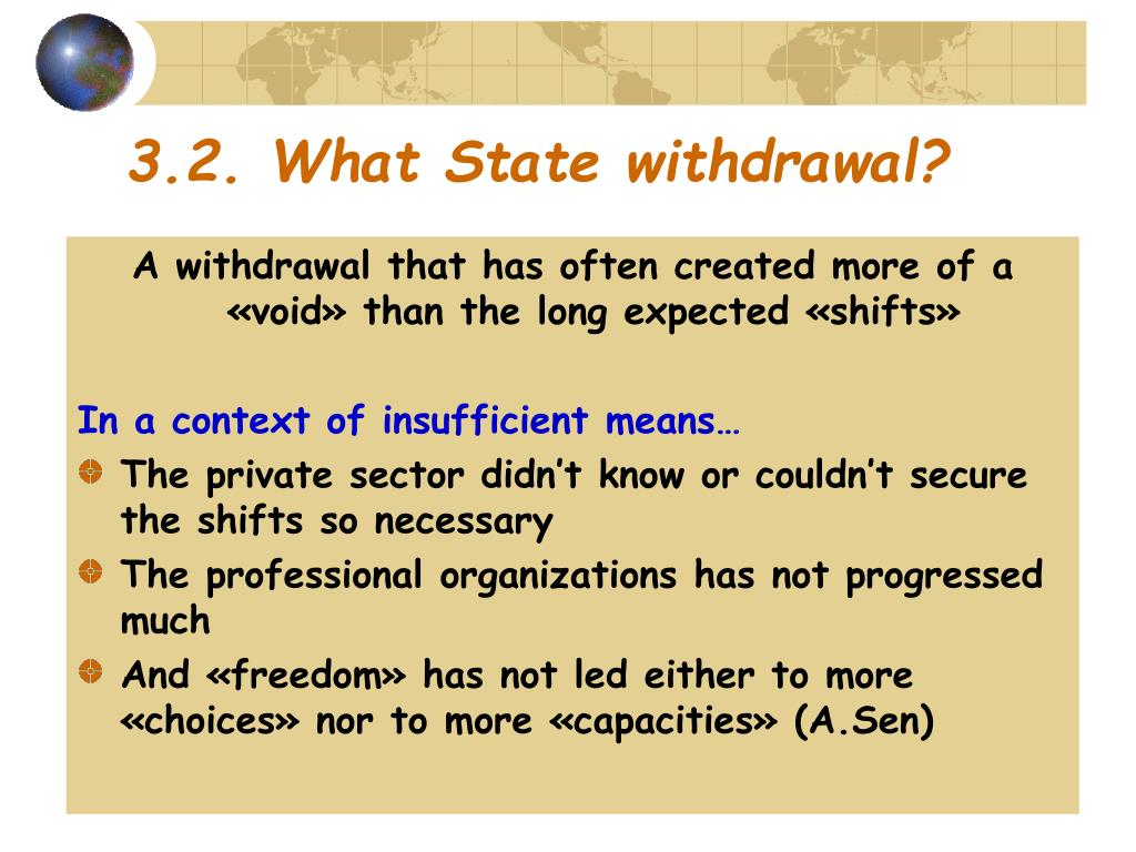 3.2. What State withdrawal?