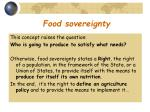 food sovereignty