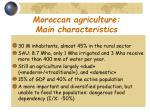 moroccan agriculture main characteristics