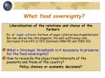 what food sovereignty
