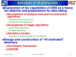 activities of hi physicists