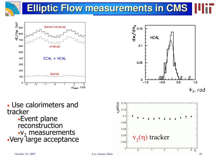 Elliptic Flow measurements in CMS