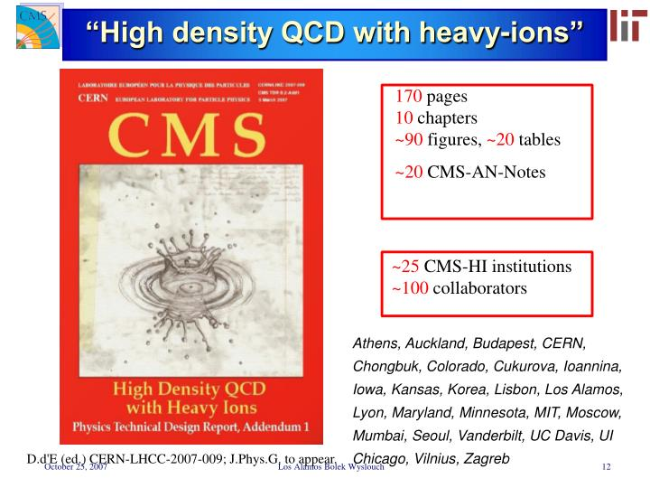 """""""High density QCD with heavy-ions"""""""