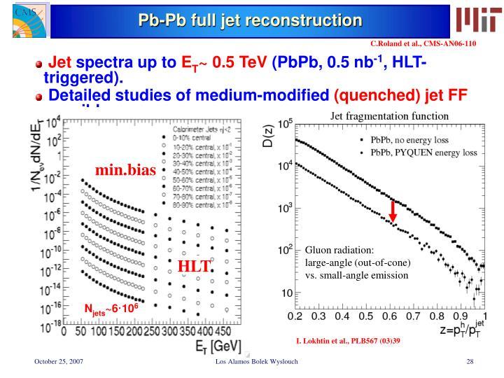 Pb-Pb full jet reconstruction