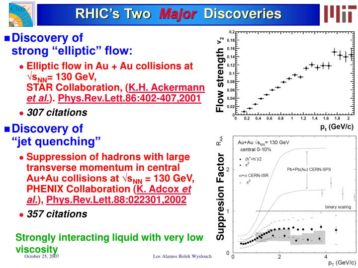 RHIC's Two