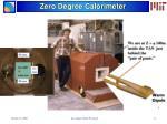 zero degree calorimeter
